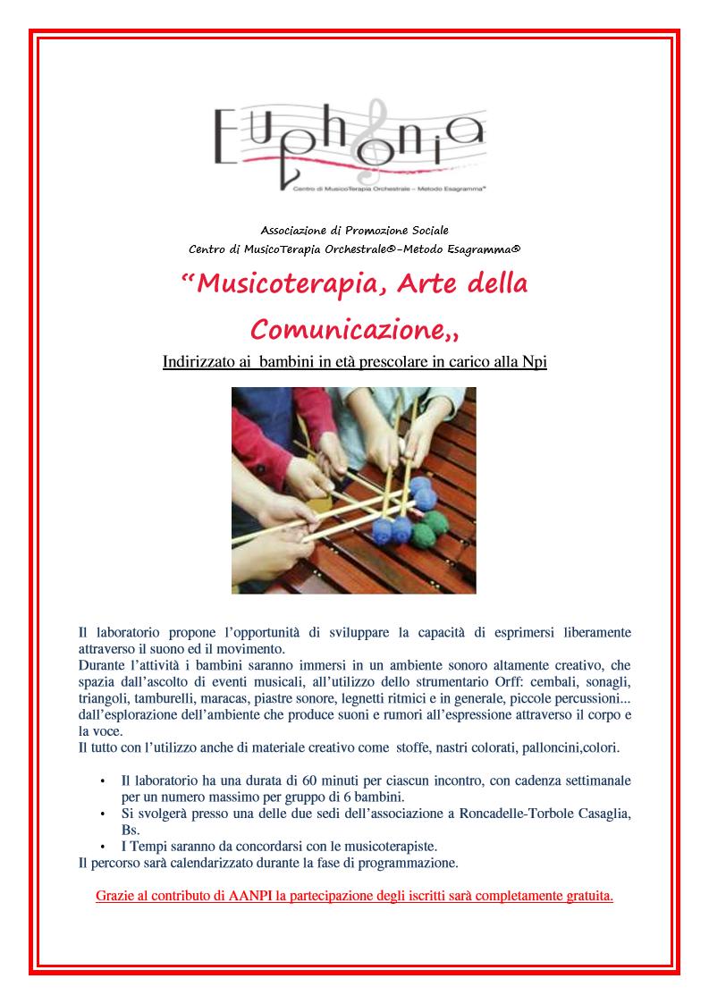 """Progetto """"EUPHONIA"""" Musicoterapia Orchestarle"""
