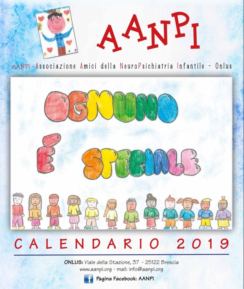 """Calendario AANPI 2019 – """"Ognuno è speciale"""""""