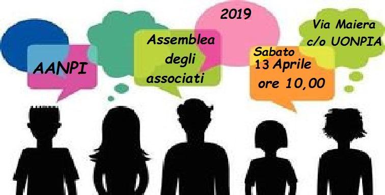 ASSEMBLEA ANNUALE AANPI 2019 degli ASSOCIàTI e… ASSòCIATI!